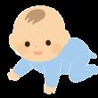 ハイハイする赤ちゃんの無料イラスト-520x300
